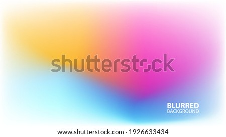 Blurred background with modern abstract light blurred color gradient. Smooth template for your creative graphic design. Vector illustration.