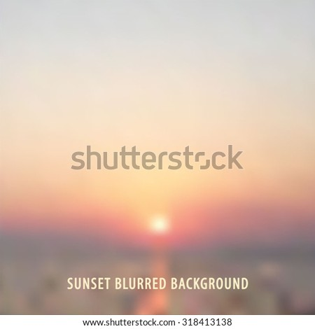 blurred background with sea