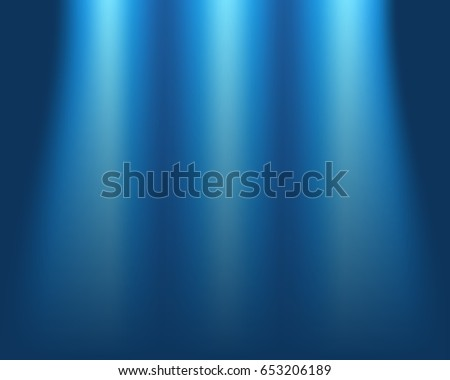 Blurred blue background, concept of light on stage, abstract blur vector