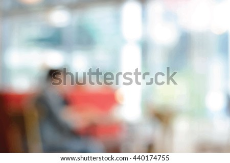 blurred cafe or coffee shop
