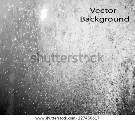 blurred drops on glass vector