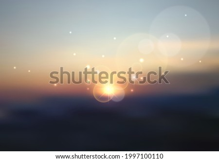 blurred evening summer