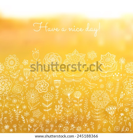 blurred floral background