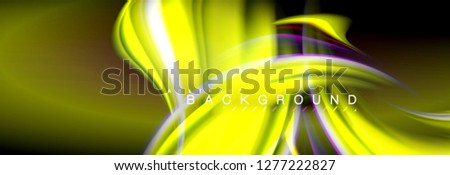 Blurred fluid colors background, abstract waves lines, mixing colours with light effects on light backdrop. Artistic illustration for presentation, app wallpaper, banner or posters #1277222827