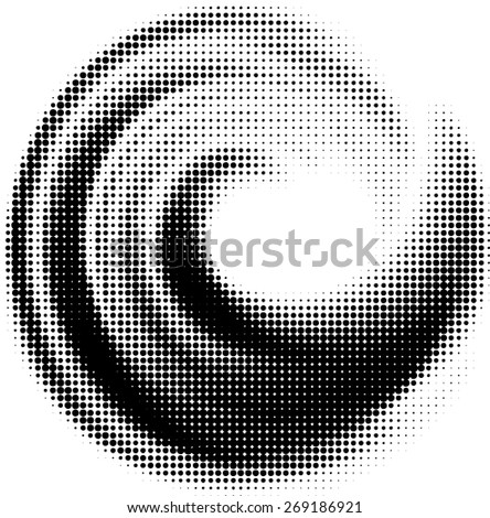 stock-vector-blurred-grunge-wave-logo-with-halftone-dots-effects