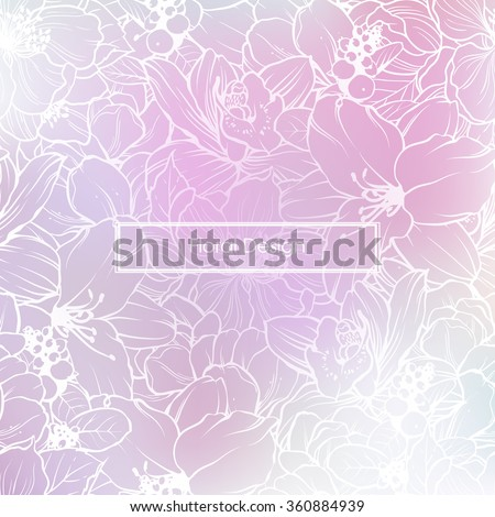 blurred pink rose lilac