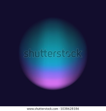 blurred soft vibrant pink purple tuquoise colors smooth gradient flow circle on dark blue background design