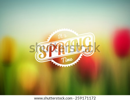 blurred spring background  eps