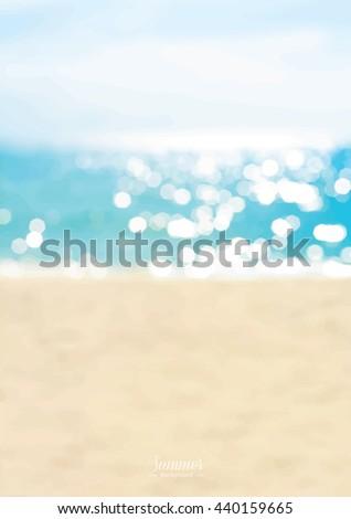 blurred summer beach with