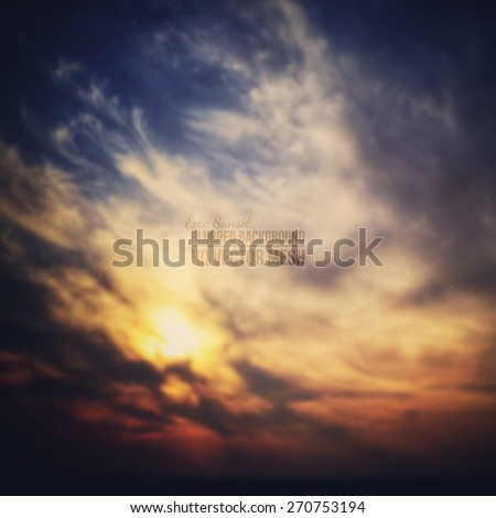Blurred vector beautiful epic sunset background. Abstract vector backdrop. Nature background. Landscape background. Vector mesh background. Bright colors vector wallpaper