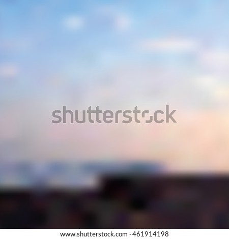 blurred vector sunset on the