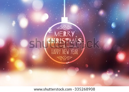 blurred winter background of