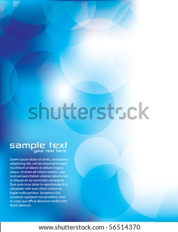 Blurry Blue Background with Circles