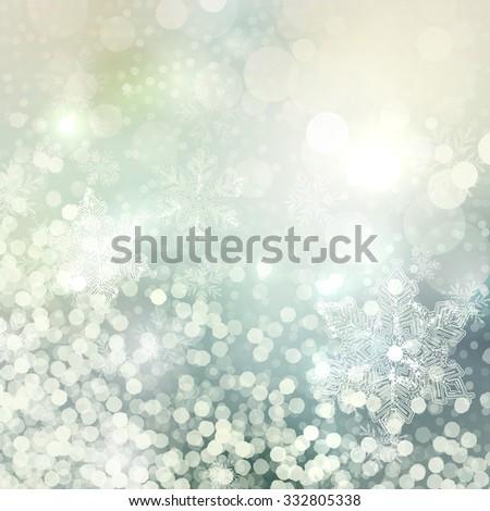 blurry lights winter background