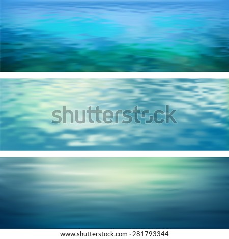 blurry vector abstract water