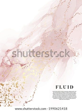 Blush pink background original watercolor painting digital paper, gold banner water texture fluid, pastel blush pink aesthetic perfect for website design, wedding stationery, mood boards, collage