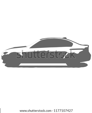 bmw m3 sports car vector symbol