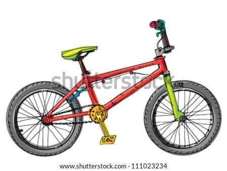 bmx bicycl - cartoon
