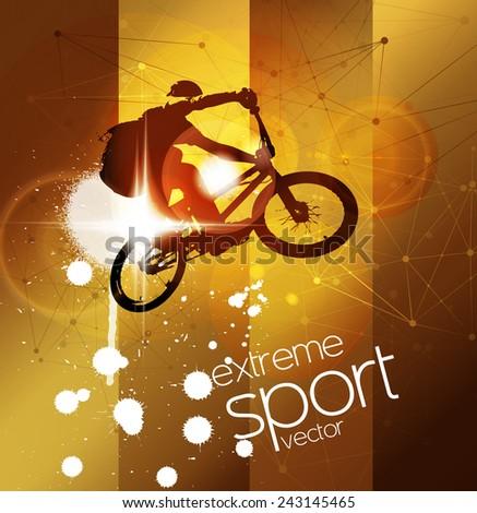 BMX. Extreme sport vector illustration