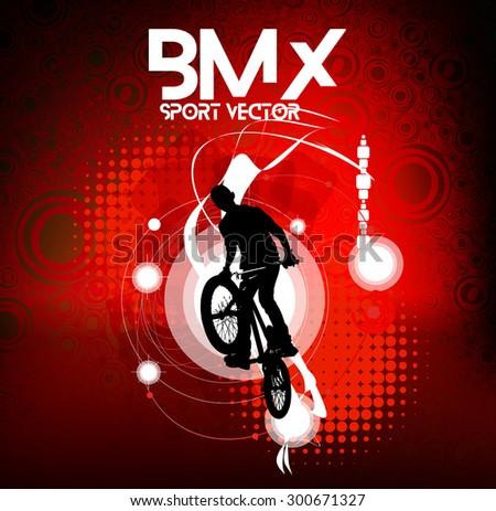Bmx rider. Sport vector