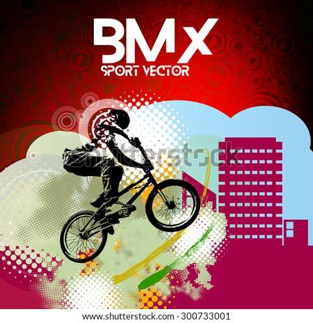 BMX rider. Vector
