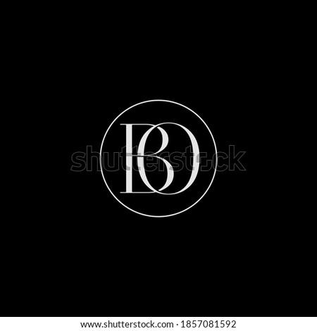 BO logo design. Vector illustration. Stok fotoğraf ©