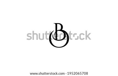 BO or OB letter logo. Unique attractive creative modern initial BO OB B O initial based letter icon logo Stok fotoğraf ©