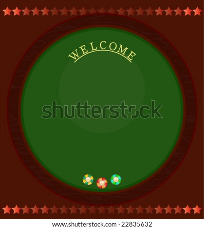 Board background design with casino table and chips