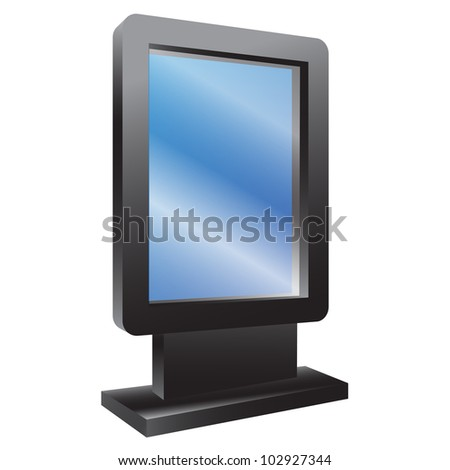 Board for announcements. Vector illustration. - stock vector