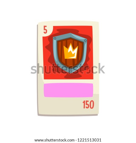 board game card with royal