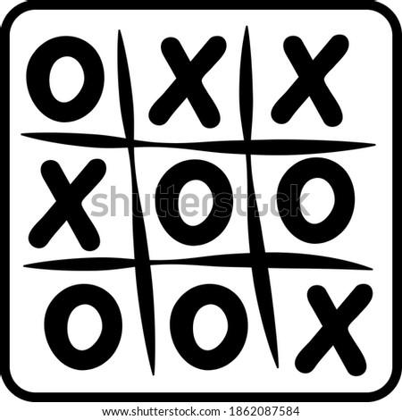 Board game TIC TAC toe drawn in vector Foto stock ©