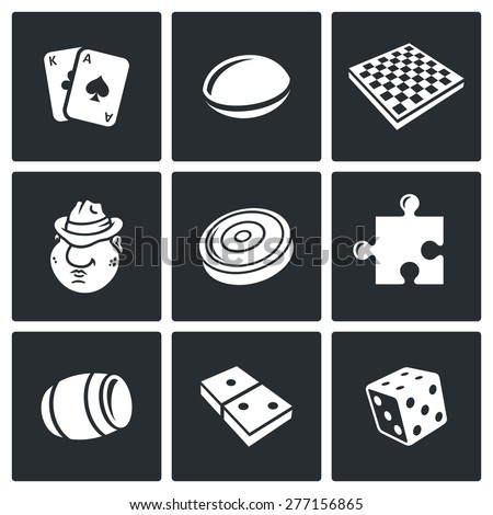 board games icons vector