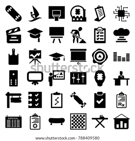 board icons set of 36 editable
