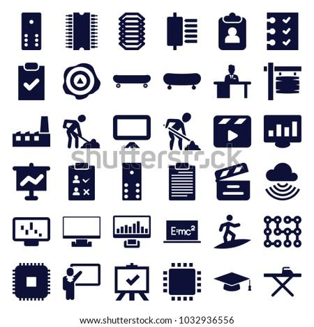 board icons set of 36 editable