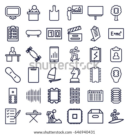 board icons set set of 36