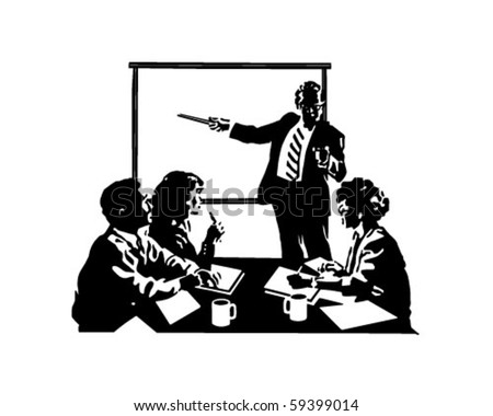 meeting clip art. Meeting - Retro Clip Art