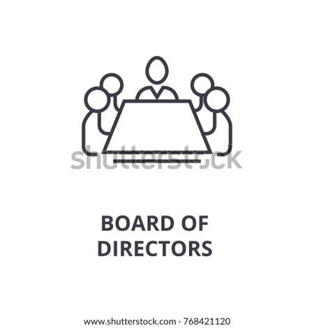 board of directors line icon, outline sign, linear symbol, vector, flat illustration