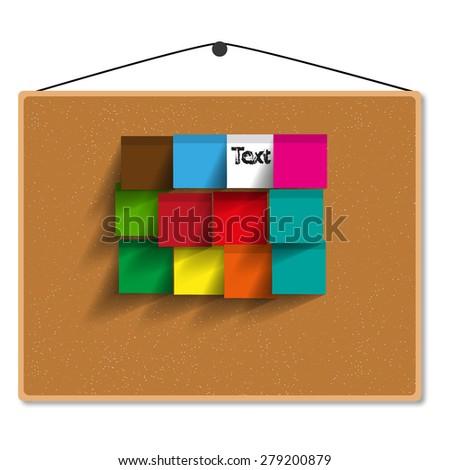 board paper vector illustration