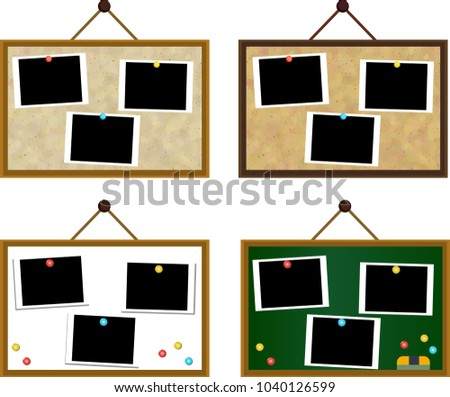 Board the photo was pasted set Foto stock ©