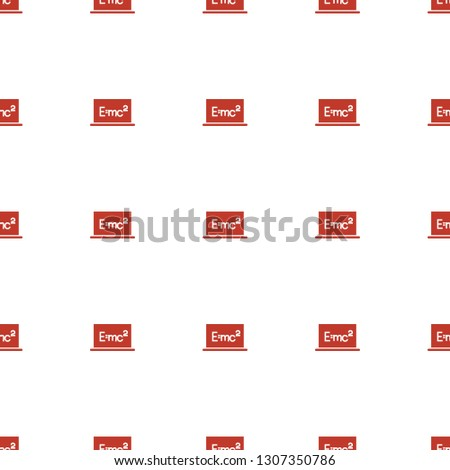 board with formulas icon pattern seamless white background. Editable filled board with formulas icon. board with formulas icon pattern for web and mobile.
