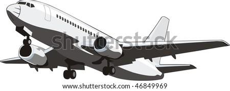 boarding civil plane