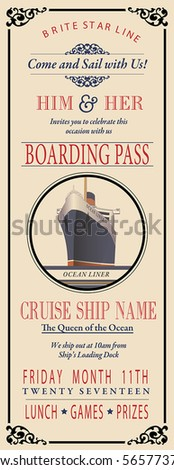 boarding pass invite
