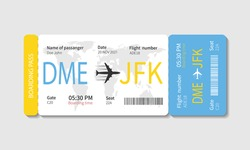 Boarding pass ticket template. Airplane ticket. Vector illustration