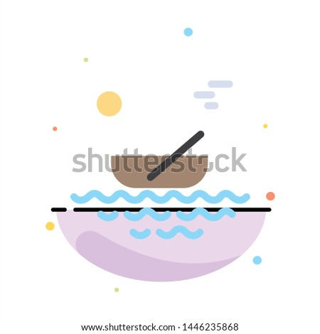 Boat, Canoes, Kayak, River, Transport Abstract Flat Color Icon Template