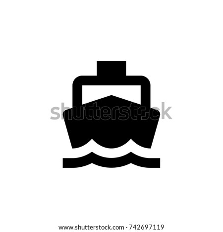 boat icon, boat icon vector, in trendy flat style isolated on white background. boat icon image, boat icon illustration stock photo