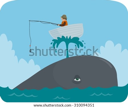 boat on a whale