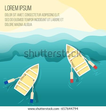 boat on beach vector