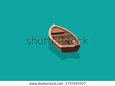 boat on the lake for background