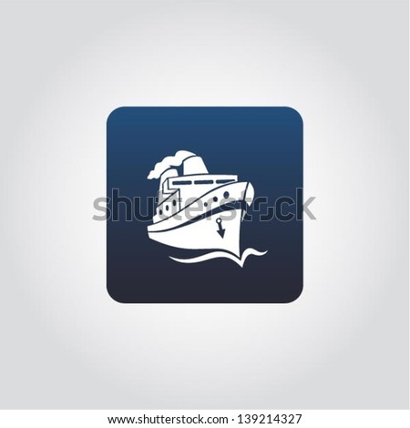 boat   ship on the sea sign