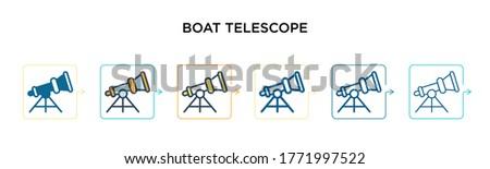 boat telescope vector icon in 6